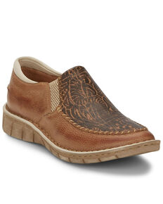 Tony Lama Women's Magdalena Natural Western Boots - Moc Toe, Tan, hi-res