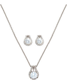 Montana Silversmiths Women's Cubic Zirconia Stud Jewelry Set, Silver, hi-res