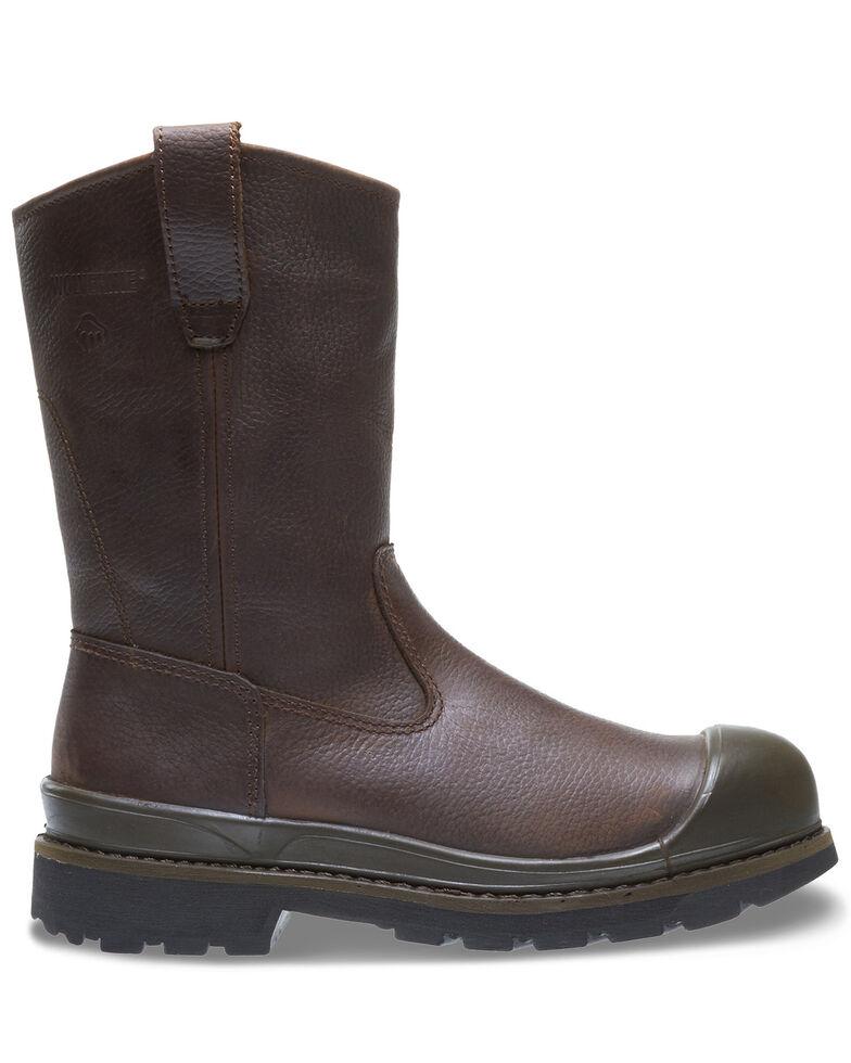Wolverine Men's Crawford Waterproof Western Work Boots - Steel Toe, Brown, hi-res