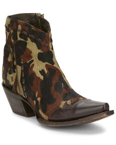 Tony Lama Women's Anahi Camo Fashion Booties - Snip Toe, Camouflage, hi-res