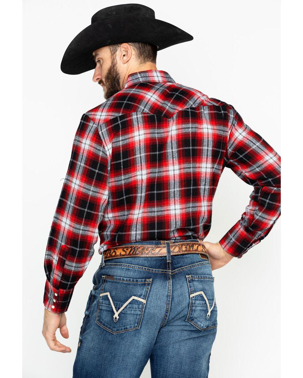 Ely Cattleman Men's 4.5 Oz.Plaid Long Sleeve Western Shirt, Red, hi-res