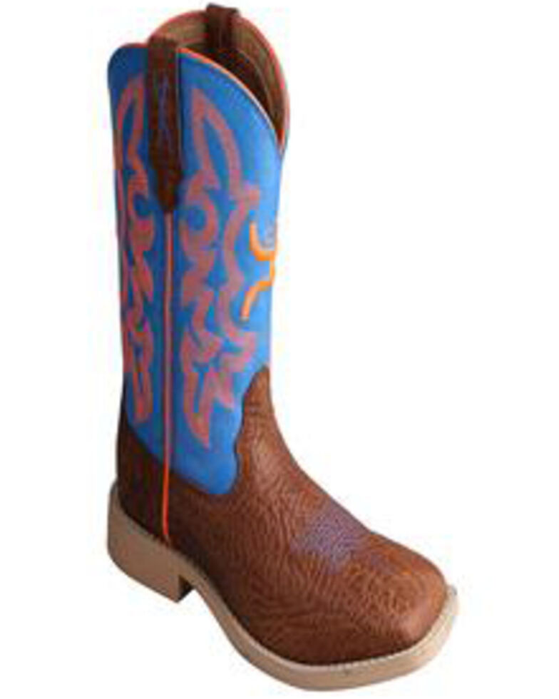 HOOey by Twisted X Boys' Square Toe Western Boots, Cognac, hi-res