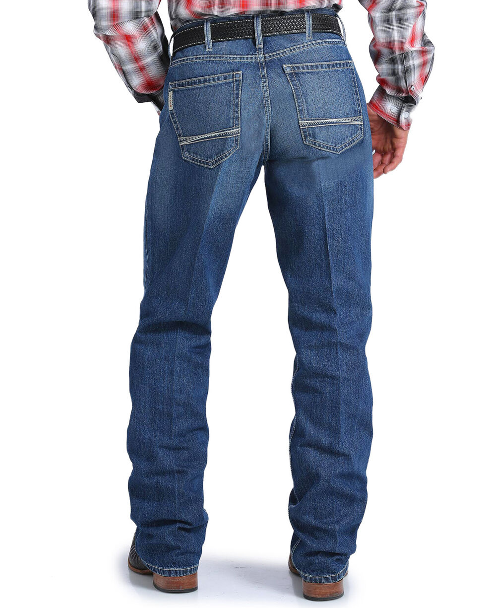 Cinch Men's Sawyer Medium Stonewash Loose Fit Jeans - Boot Cut, Indigo, hi-res