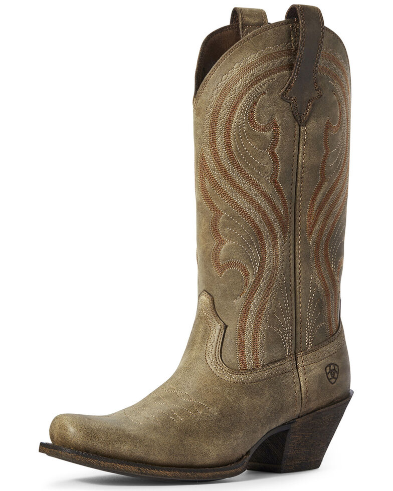 Ariat Women's Lively Brown Western Boots - Narrow Square Toe, Brown, hi-res