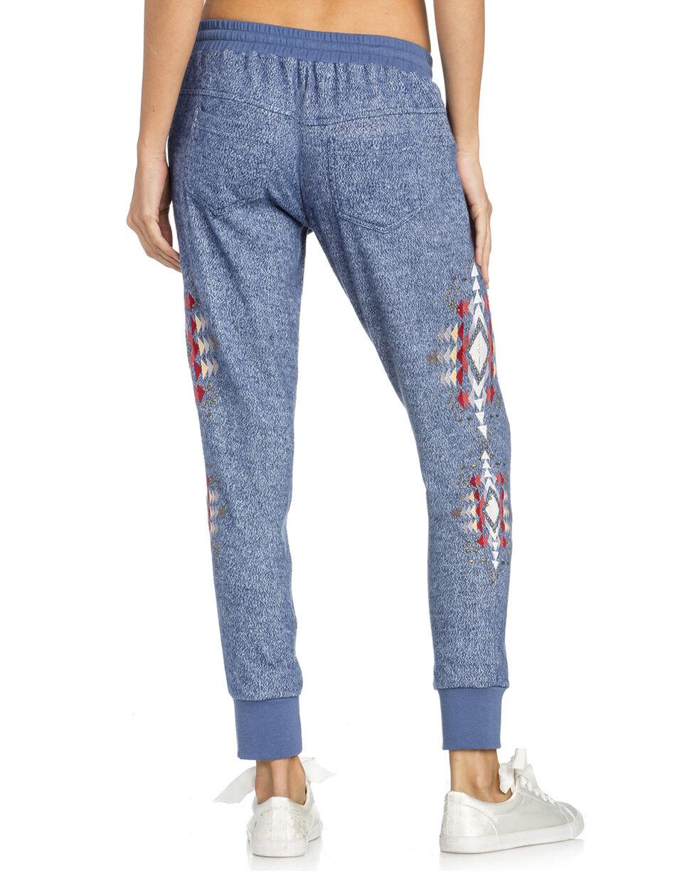 Miss Me Women's Aztec Lounge Pants , Blue, hi-res