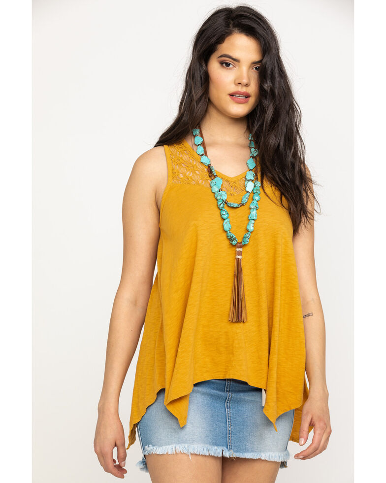 White Crow Women's Mustard Cabrillo Top, Dark Yellow, hi-res