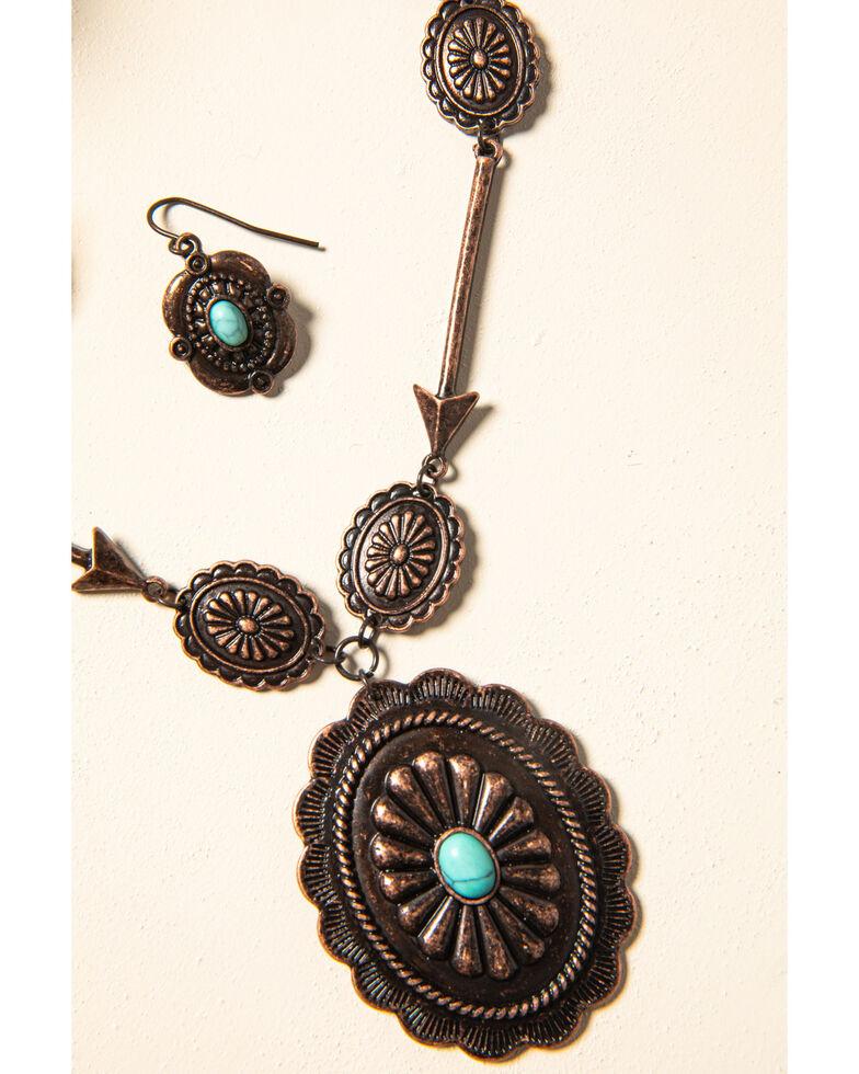 Shyanne Women's Willow Moon Copper Concho Set, Rust Copper, hi-res