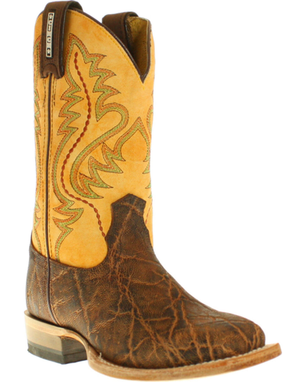 Cinch Kids' Elephant Print Western Boots, Rust, hi-res