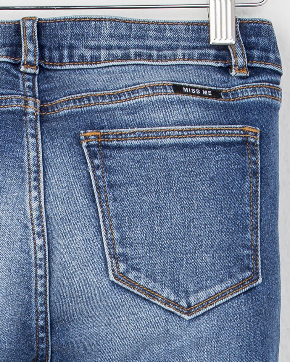MIss Me Girls' (7-14) Crop Hem Boot Cut Jeans , Indigo, hi-res