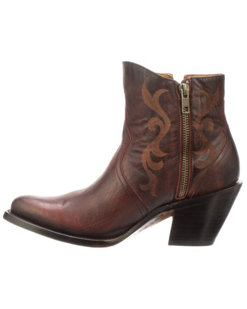 Lucchese Men's Alondra Fashion Booties - Round Toe, Red, hi-res