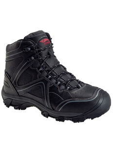 Avenger Men's Crosscut Waterproof Work Boots - Steel Toe, Black, hi-res