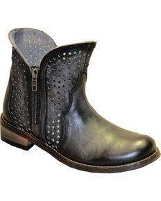 "Abilene Women's 5"" Ventilated Zippered Boots - Round Toe, Black, hi-res"