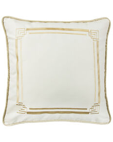 HiEnd Accents Hollywood Embroidery Euro Sham, Cream, hi-res