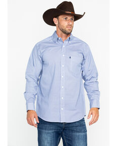 Tuf Cooper Men's Blue Geo Print Long Sleeve Shirt , Blue, hi-res