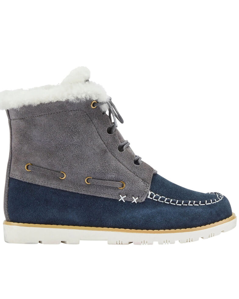 Lamo Footwear Women's Grey Meru Winter Boots - Moc Toe, Grey, hi-res