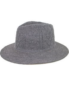 Peter Grimm Women's Jove Acrylic Knit Fedora, Grey, hi-res