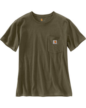 Carhartt Women's Workwear Pocket T-Shirt, Green, hi-res