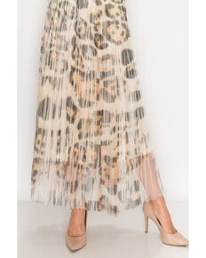 Origami Women's Leopard Print Mesh Midi Skirt , Leopard, hi-res
