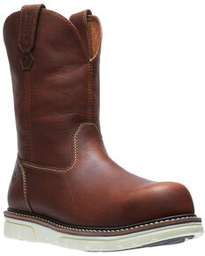 Wolverine Men's I-90 Durashocks Western Work Boots - Soft Toe, Tan, hi-res
