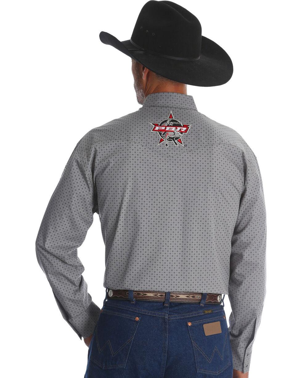 Wrangler Men's Grey Logo Long Sleeve Shirt , Grey, hi-res