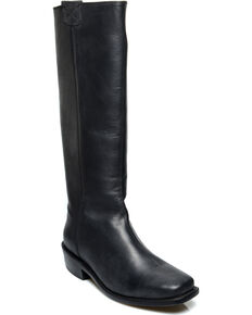Oak Tree Farms Women's Black Pale Rider Pull on Boots - Square Toe, Black, hi-res