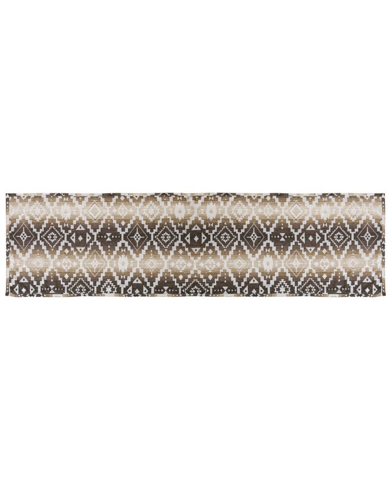 HiEnd Accents Chalet Aztec Bed Scarf, Multi, hi-res