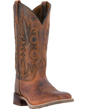 Laredo Men's Rustic Rancher Stockman Boots, Brown, hi-res