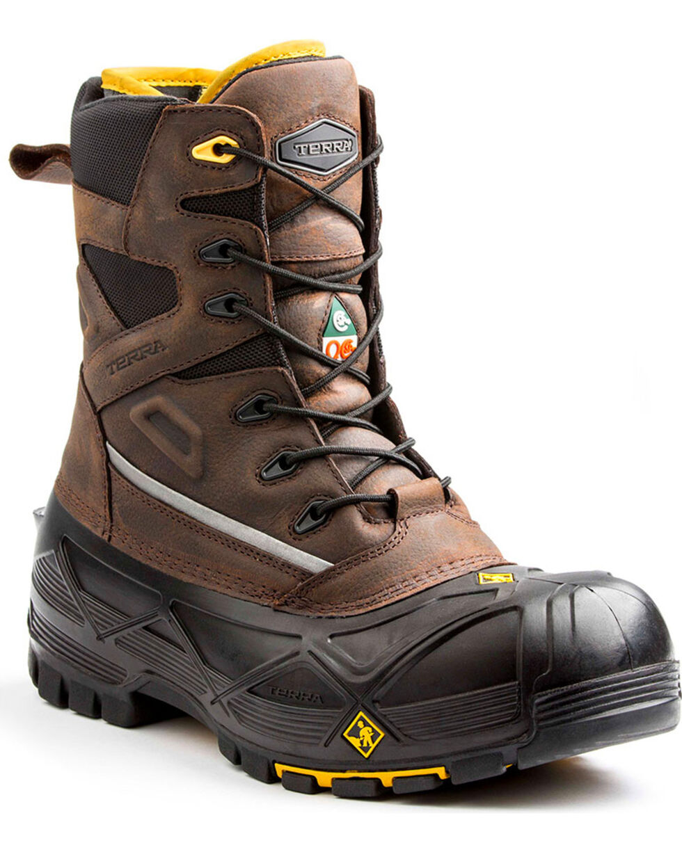 Terra Men's Brown Crossbow XS Boots - Composite Toe, Brown, hi-res