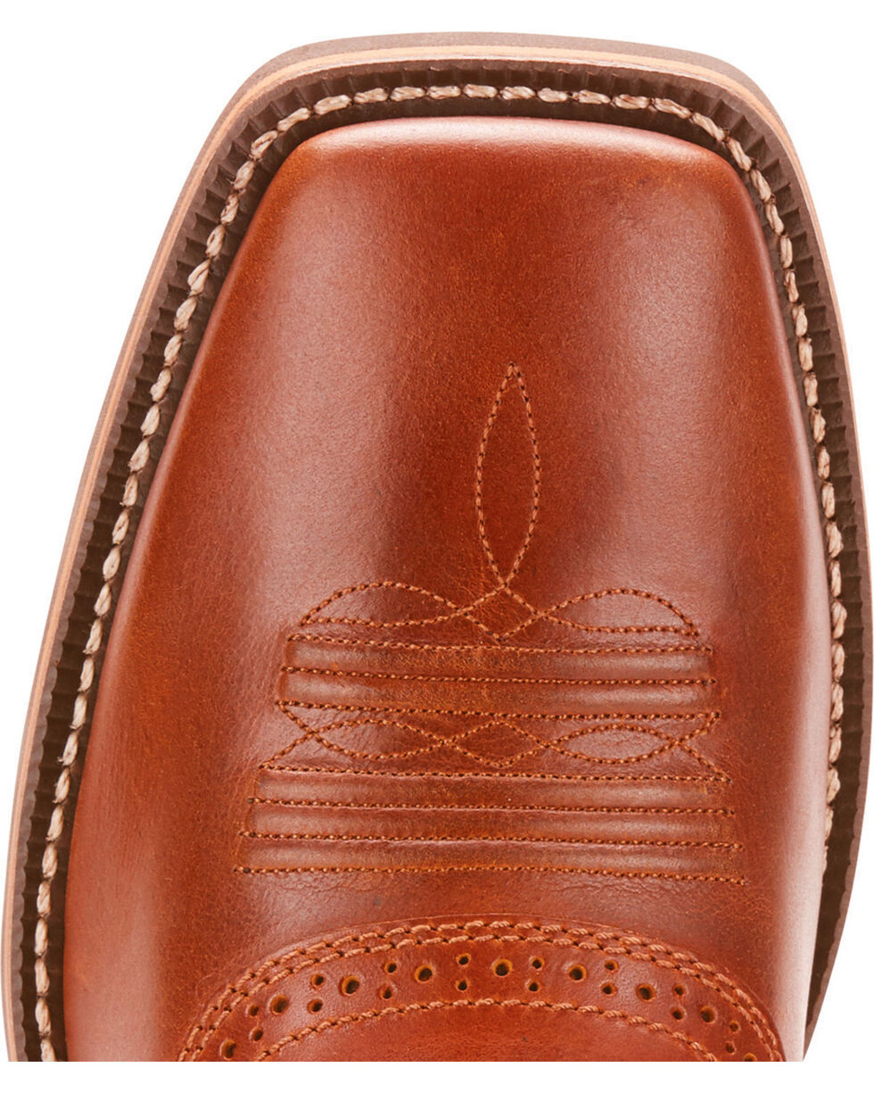 Ariat Men's Heritage Roughstock Native Nutmeg Cowboy Boots - Square Toe, Brown, hi-res