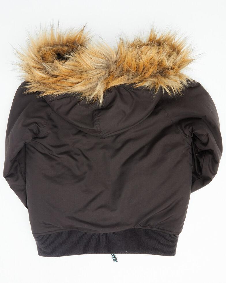 Cruel Girl Girls' Serape Print Jacket , Black, hi-res