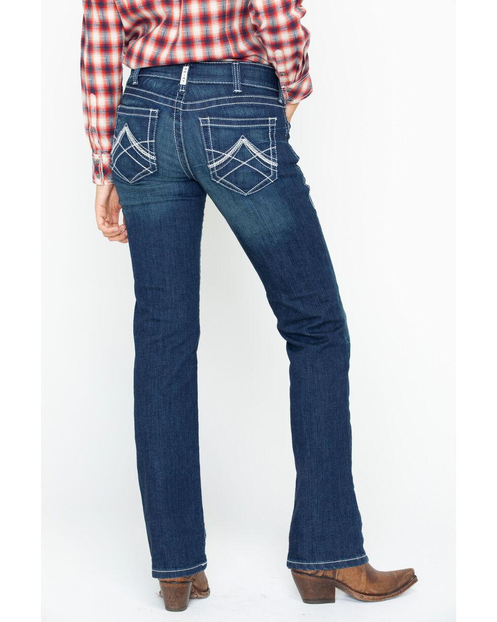 Ariat Women's Real Denim Ocean Straight Leg Riding Jeans, Indigo, hi-res