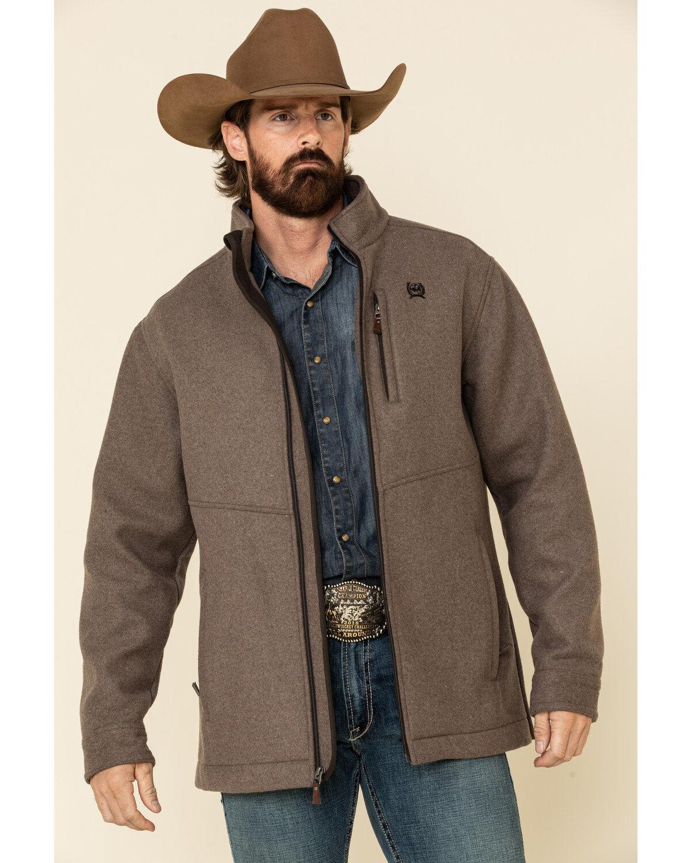 Cinch Men's Brown Wool Blend Jacket