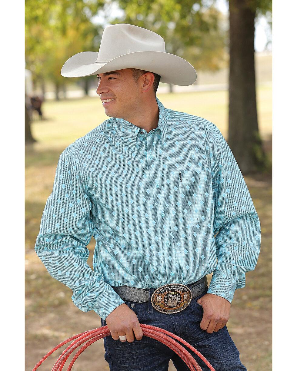Cinch Men's Light Blue Modern Fit Basic Long Sleeve Shirt , Light/pastel Blue, hi-res