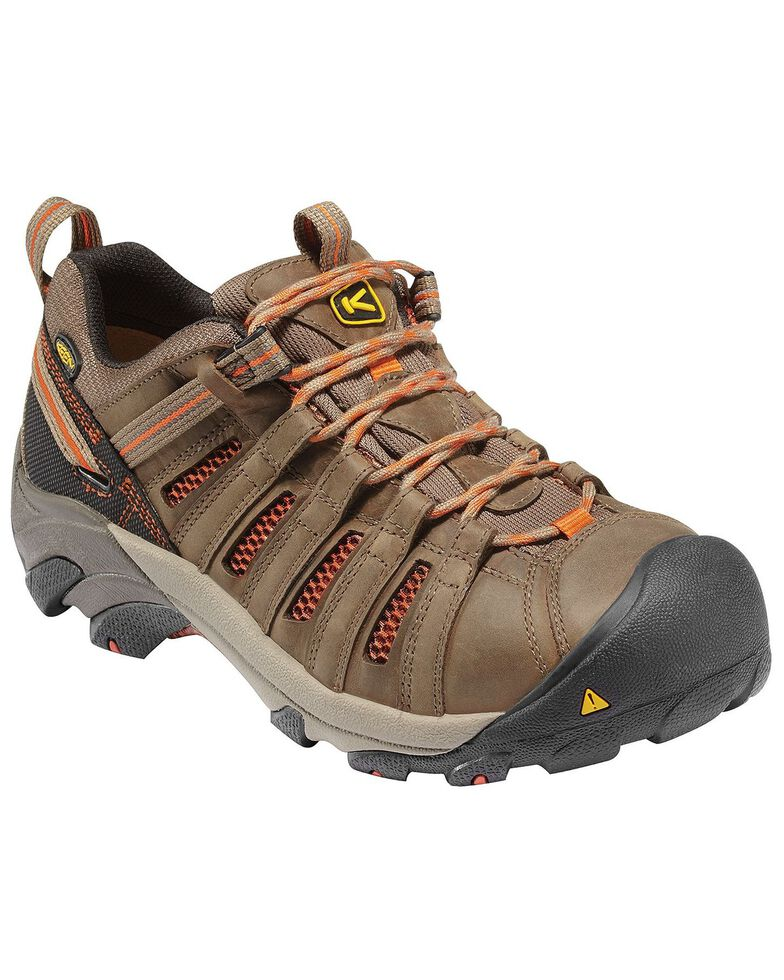 Keen Men's Flint Low Steel Toe Shoes, Forest Green, hi-res