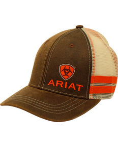 Ariat Men's Side Striped Ball Cap, Brown, hi-res