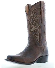 El Dorado Men's Rhodesian Leather Western Boots - Square Toe, Brown, hi-res
