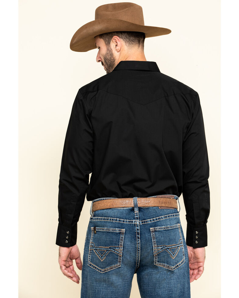 Gibson Men's Black Lava Long Sleeve Snap Shirt - Big , Black, hi-res
