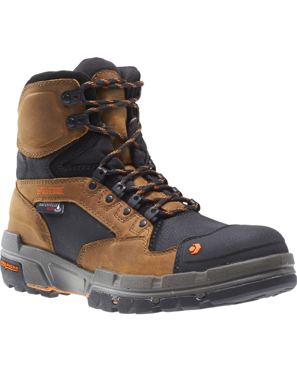 "Wolverine Men's Legend Durashocks 6"" Work Boots - Composite Toe, Tan, hi-res"