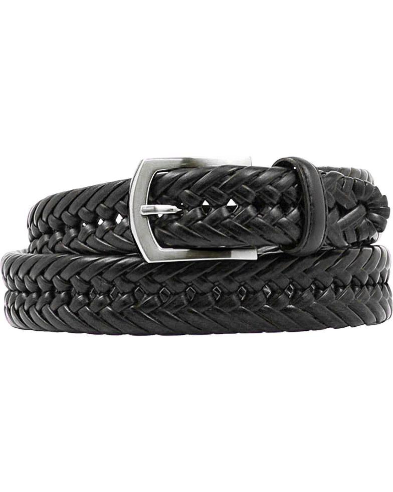 Nocona Braided Leather Belt, Black, hi-res
