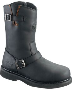 Harley-Davidson Men's Jason Steel Toe Boots, Black, hi-res