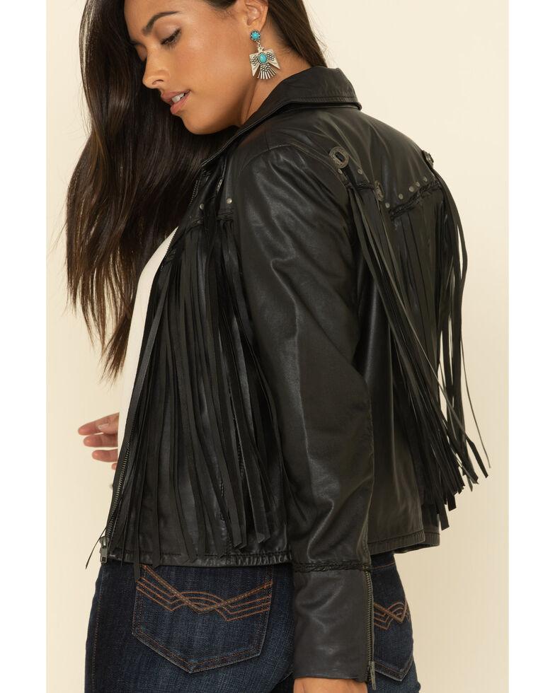 Idyllwind Women's Black Headline Concho Leather Jacket, Black, hi-res