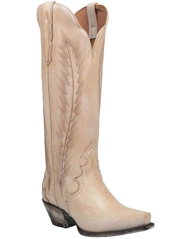 Dan Post Women's Valli Western Boots - Snip Toe, Off White, hi-res