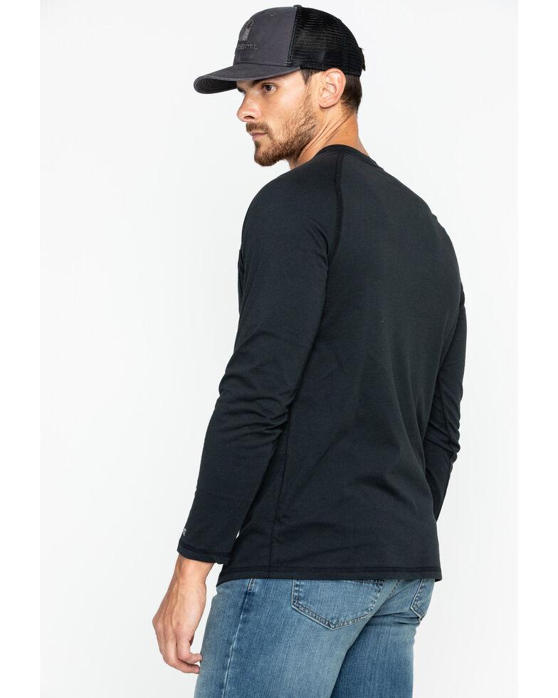 Carhartt Men's Solid Force Long Sleeve Work Shirt, Black, hi-res