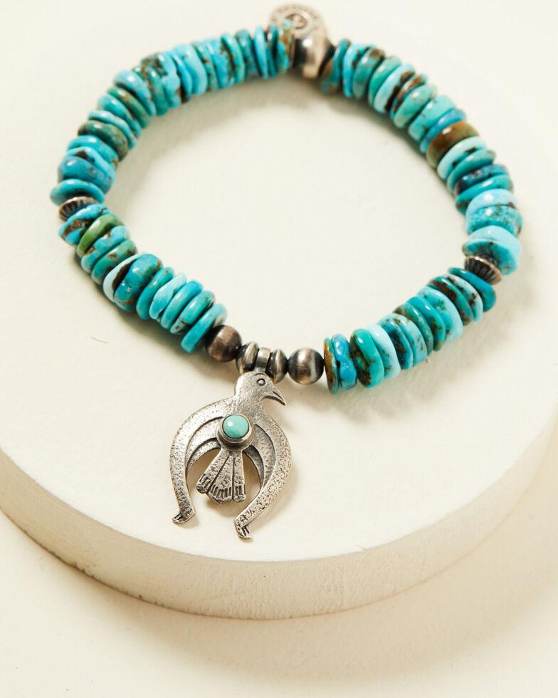 Double D Ranch Women's Tranquility Stretch Bracelet, Turquoise, hi-res