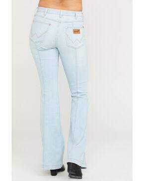 Wrangler Women's Modern Bleach Seamed Flare Jeans, Light Blue, hi-res