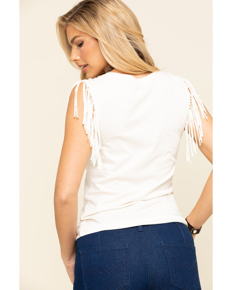 Idyllwind Women's Nashville In My Heart Fringe Tank, Cream, hi-res