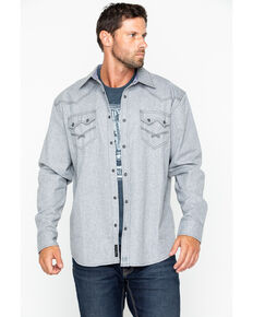 Moonshine Spirit Men's Siberia Solid Flannel Shirt Jacket, Grey, hi-res