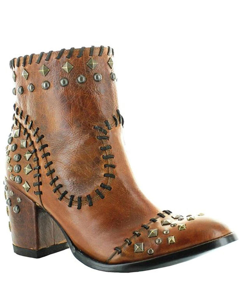Old Gringo Women's Quintana Roo Fashion Booties - Round Toe, Brown, hi-res