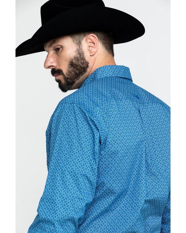 Ariat Men's Sharp Geo Print Long Sleeve Western Shirt , White, hi-res