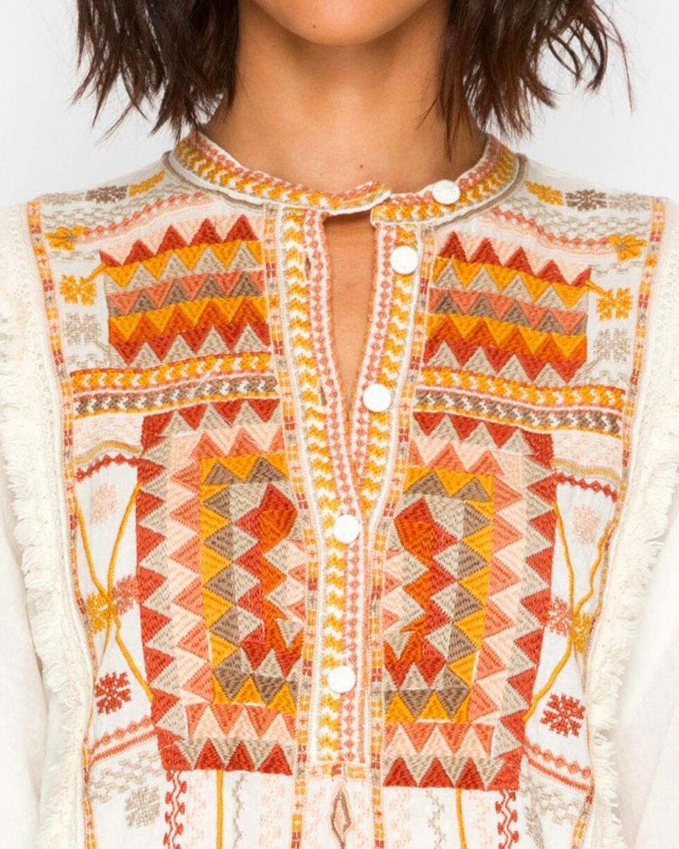 Johnny Was Women's Trilow Cotton Blouse, Natural, hi-res